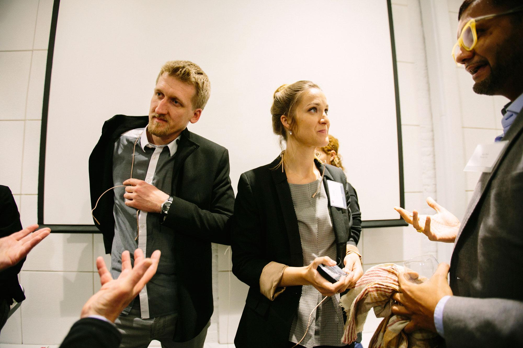 Felix Heisel and Marta H. Wisniewska at swissnex SF